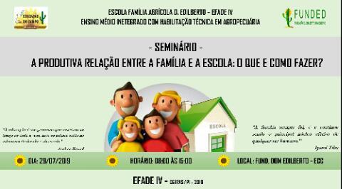 Primeiro seminário da família acontecerá em Oeiras