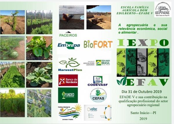 I EXPO EFA V será realizado na escola agrícola Dom Edilberto (EFADE V) em Santo Inácio do Piauí