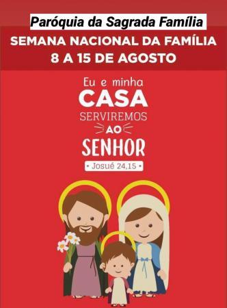 """Semana da família: somos chamados a vivenciar o exemplo da Sagrada Família """"Jesus, Maria e Jose"""""""