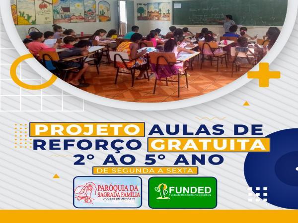 Fundação Dom Edilberto reabre inscrições para aulas de reforço no ECC