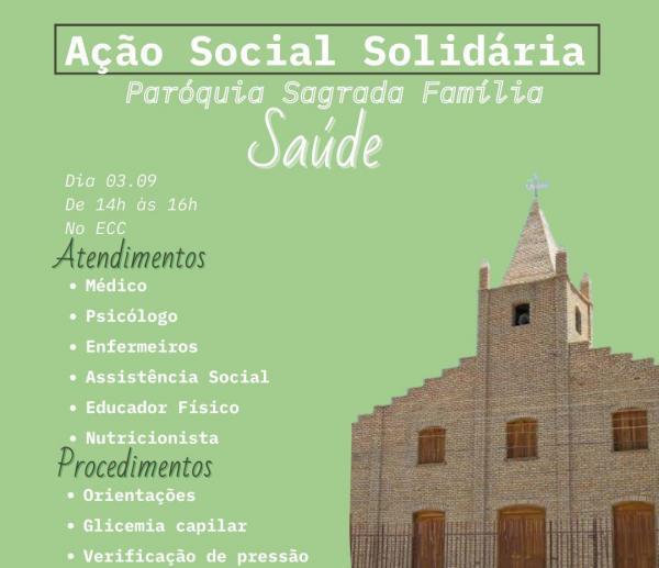 Festejo da Sagrada Família 2021, Paróquia realiza ações de solidariedade.