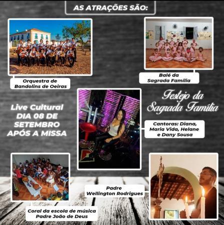 Live Cultural da Sagrada Família encerra festejo com atrações musicais e culturais