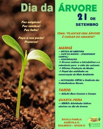 Escola agrícola Efade IV realiza ação no dia da Árvore