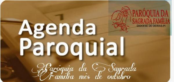 Programação mês de outubro/2021- Paróquia da Sagrada Família